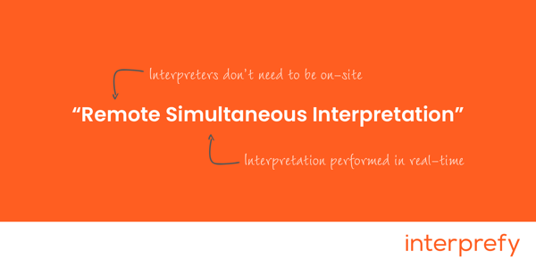 Remote Simultaneous Interpretation